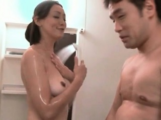 Sexy asian babe goes crazy