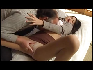 Asian girl is seduced wide..