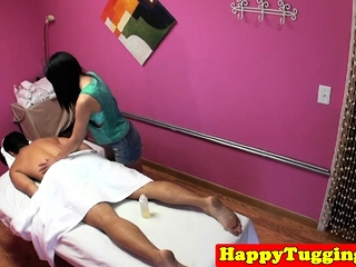Asian masseuse gets hairy..