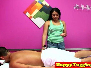 Adorable asian masseuse..