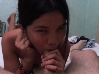 Asian playgirl gets pussy..
