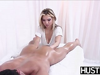 Busty Asian massaged and..