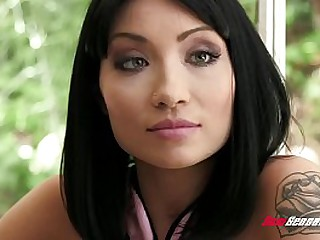Asian milf fucked by white..