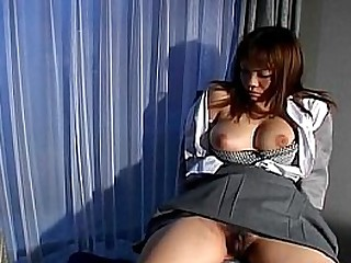 Asian with hairy pussy gets..