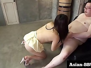 Big Ass Asian Rides Little..