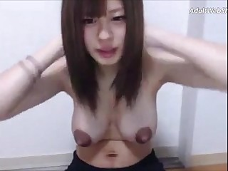 Petite Japanese with huge..
